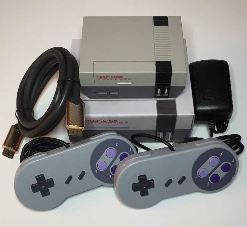 NESPi Gaming Emulation Console System - RPi3 - Recalbox Preloaded - USA!