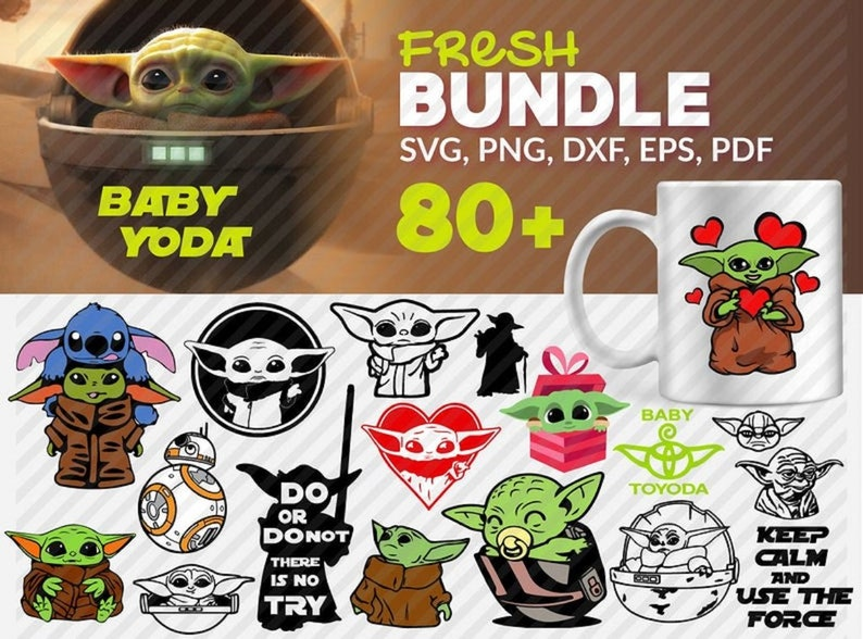 Download Baby Yoda SVG Bundle/ Over 80 Files/ Cricut/ SVG/ Cut File ...