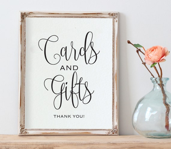Cards and Gifts Table Sign Wedding Reception Sign Cards and Gifts Sign Printable Cards and Gifts Wedding Sign WED116
