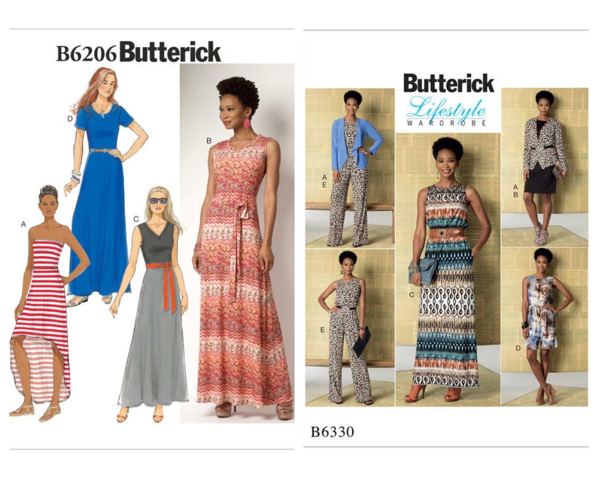 Butterick Schnittmuster Damen Kleider B6206 B6330