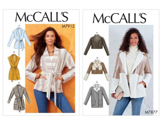 McCalls Sewing Pattern Women's Jackets M7912 M7877