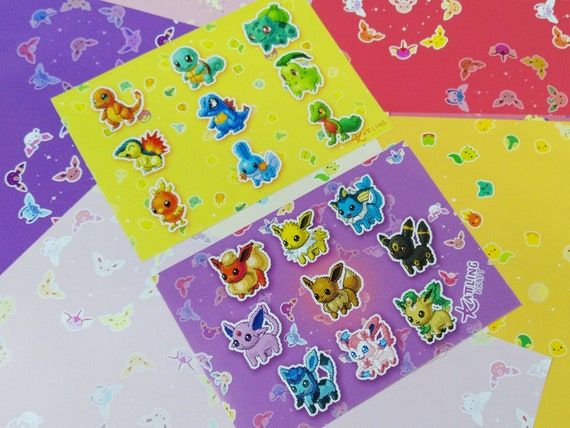 Pixel Pokemon Stickersheets