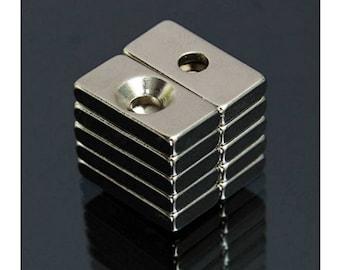 "20pcs 25//32/"" x 3//8/"" x 1//8/"" Blocks 20x10x3mm Neodymium Magnets Permanent N35"