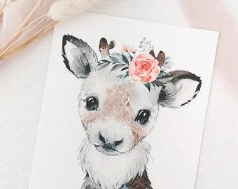 Christmas card A6 deer or seal