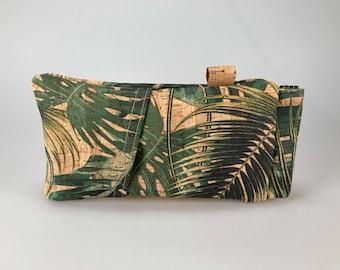 Glasses and pens case cork jungle