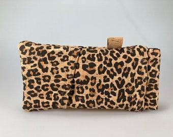 Glasses case, pencil case cork Leo