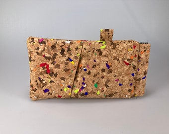 Glasses and pencils case cork colorful