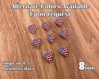 acrylic laser cut cabochon 8 pcs  Lot *Ships in 3-5 business days* American Flag Stars Printed Design