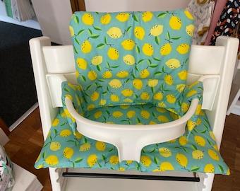 TrippTrapp seat cushion cover washable lemon turquoise