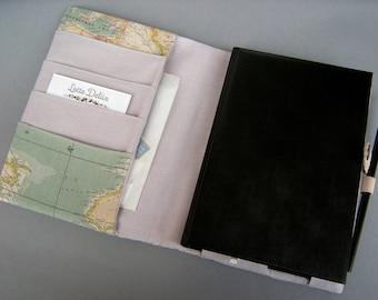 Organizer Weltreise mit Kalender A5 2021 Weltkarte Vintage-Style