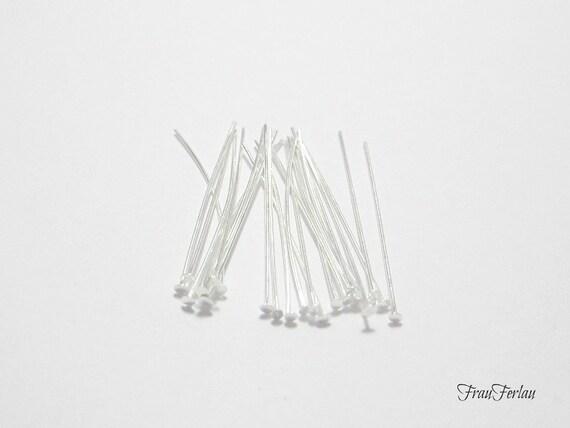 1722 100 Kettelstifte 30x0.7mm Nietstifte Prismenstifte basteln silber