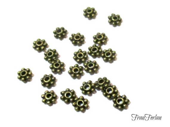 100 Antiksilber Spacer Perlen Zwischenteil