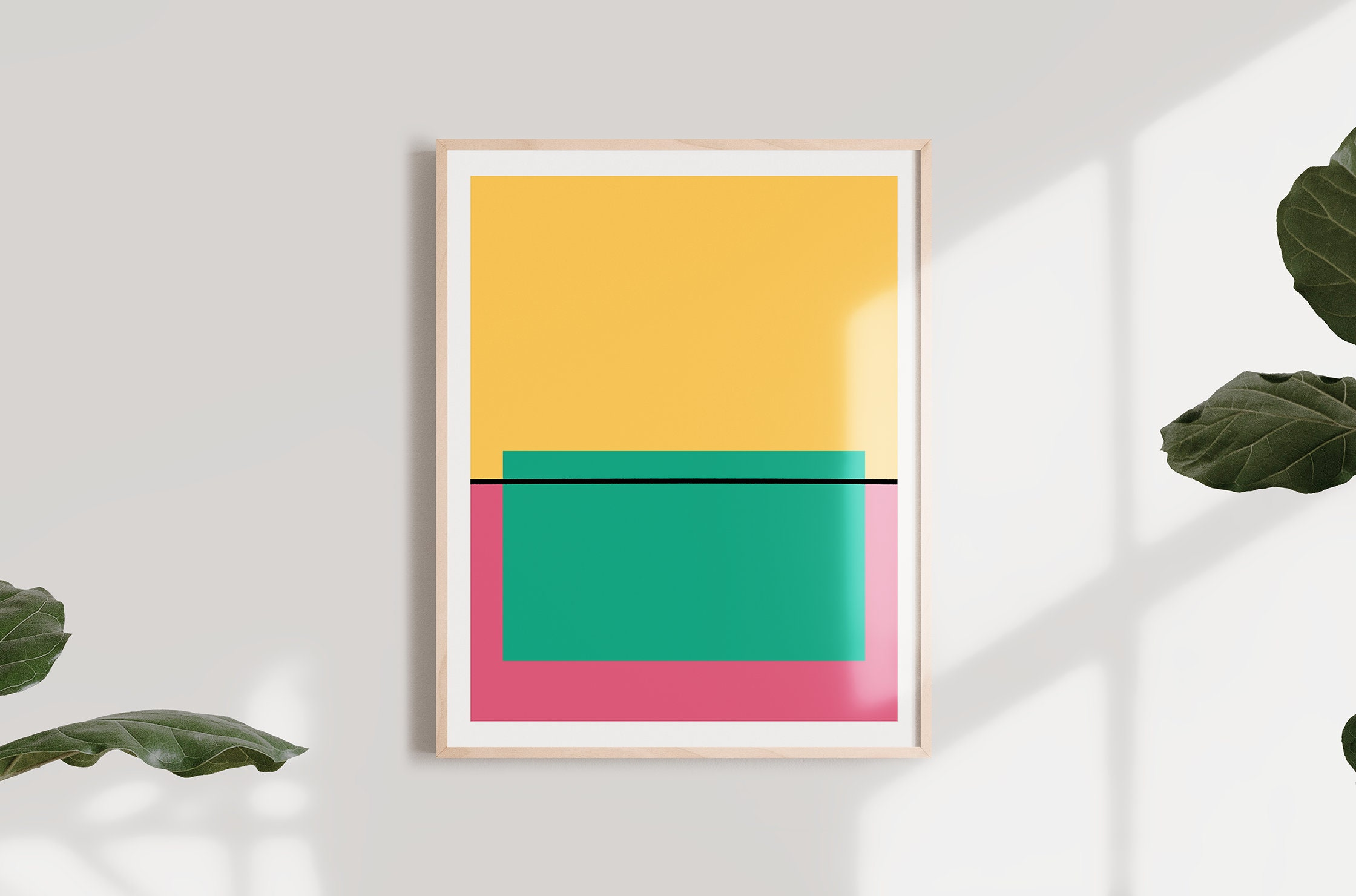 Printable Pop Art Minimalist Mid Century Modern Style Wall Art In Digital Download Files