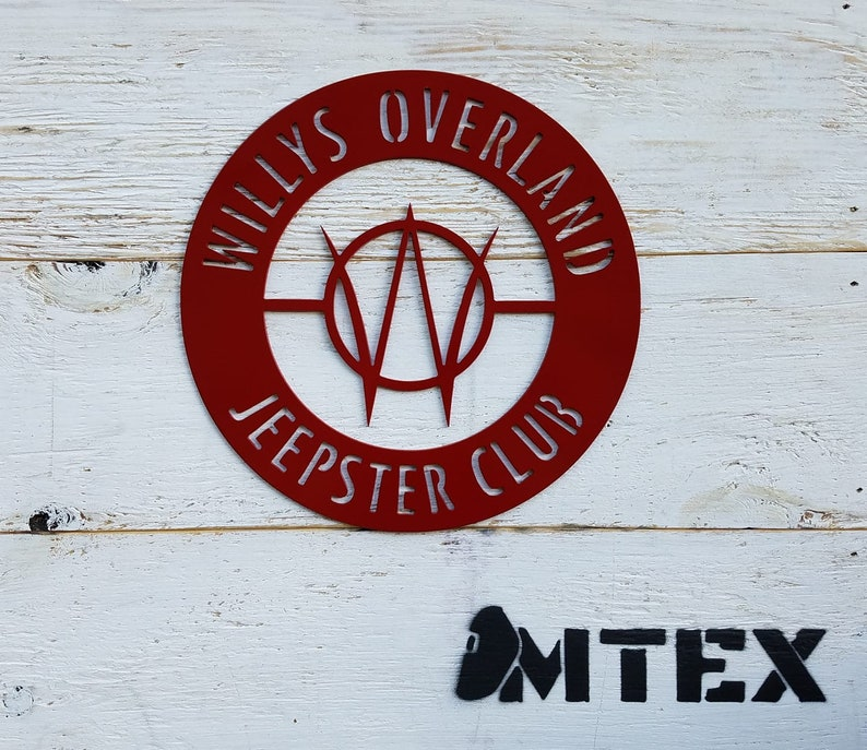 Willys Overland Jeepster Club metal sign image 0