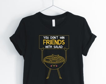 9a575645ea7b You Don't Win Friends With Salad Unisex Shirt, salad shirt, vegetarian shirt,  fruit salad, salad fingers, brunch shirt. fruit shirt