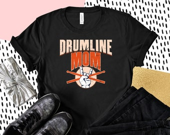 aa523bf7 Drumline Mom T shirt, band mom shirt, band mom, marching band, high school  band, marching band tee, band mom gift, proud mom