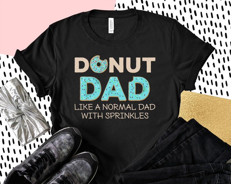 336f2a9d Funny Donut dad Shirt For Men Cute Sprinkles Trendy Gift | Etsy