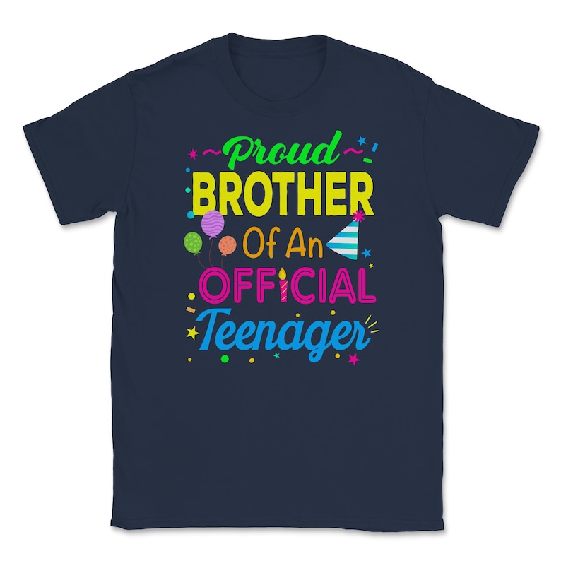 birthday shirt gift for brother 13th birthday shirt big brother gift teen shirt 13th Birthday Party graphic Unisex T-Shirt