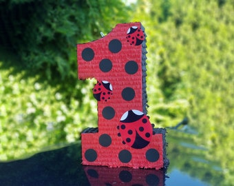 Lady Bug Number Pinata