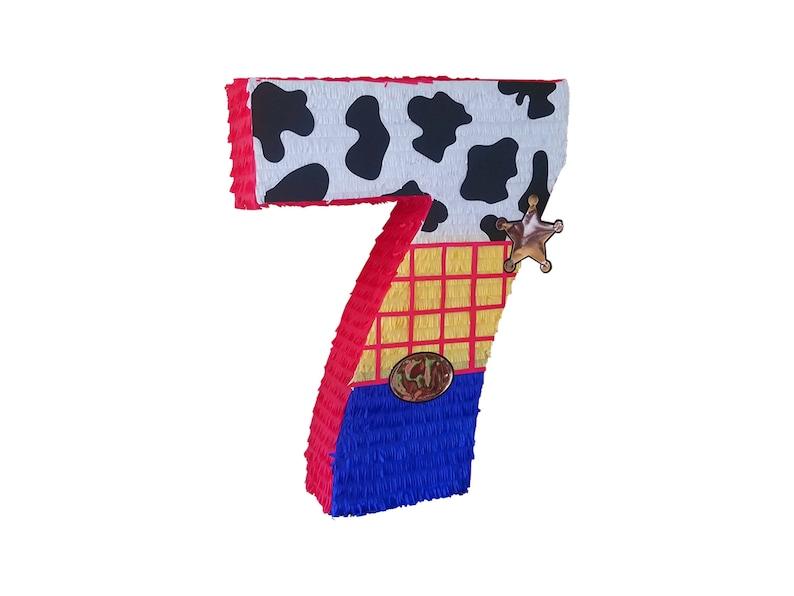 Cowboy Number Pinata