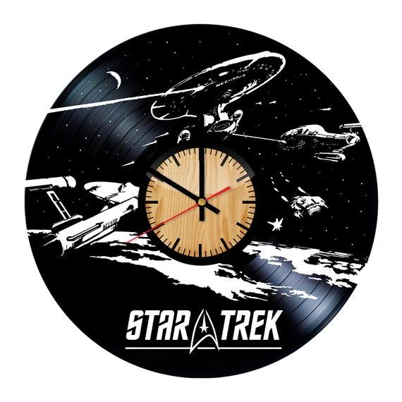 Star Trek vinyle mural horloge – cadeau fait main pour toutes les occasions – mur Décor idées de conception pour n'importe quel espace
