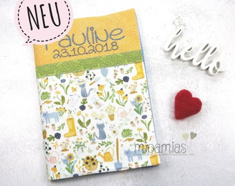 U-booklet cover cat garden with desired name