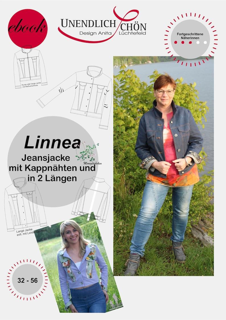 Jeansjacke Design Lüchtefeld Damen Ebook Pattern Kappnähte Jacke Anita Große Größen dBCxQthsr