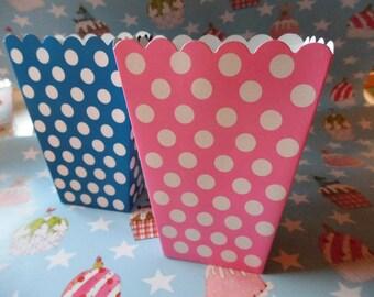 Popcorn Bags Dots 8 Set Party Mix