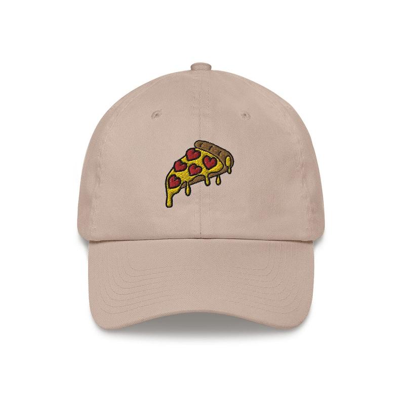 Pizza Love Dad Hat image 0