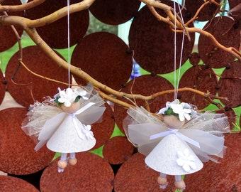 Set of 2 lucky fairy mini hanging craft pack fairy angel craft set craft 10 cm