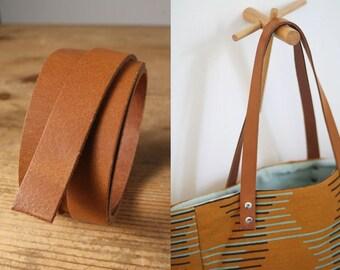 67cm hochwertige Taschengriffe Echtleder dunkelbraun 1 Paar