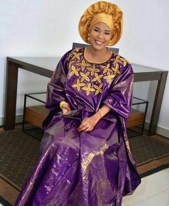 Plus size dressPlus size clothing Premium Getzner magnum gold African dressAfrican clothingAfrican fashion African dressBazin boubou
