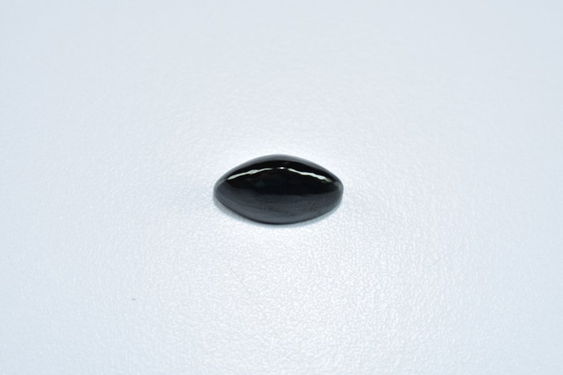 Black Spinal Marquise Shape Loose Gemstone 9X18X9mm Natural Black Spinal Cabochon Gemstone 14 Cts