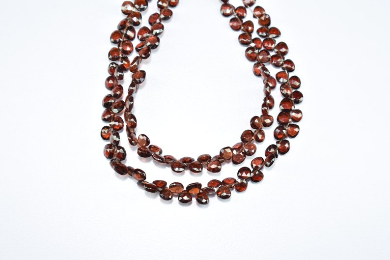 Mozambique Garnet Faceted Heart Shape Size 5.50 To 6 mm String 1 Length 8/'/' inch ..... .