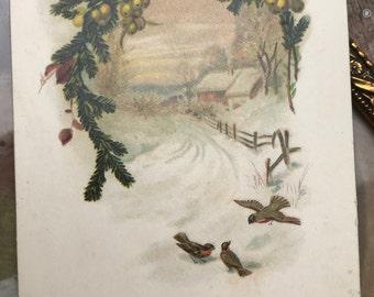antique Christmas postcard 10s