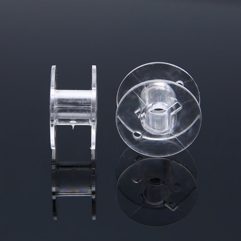 7 x Clear Transparent Sewing Bobbins Spool Thread Plastic Brother Singer Sewing Machines Universal