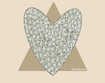 Adoption Triad Symbol Digital Download-Adoption Gift-Adoption Print-Birth Mom Gift-Adoptive Mom Gift-Adoptive Parent Gift