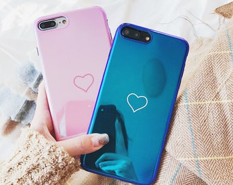 cea0273030 Matching Couple Heart iphone case Gft For Boyfriend , Girlfriend Protective  Hard Case Cover For iphone 6 iPhone 7 iPhone 8 color iphone case