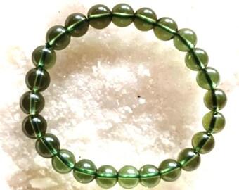 Moldavite bracelet | Etsy
