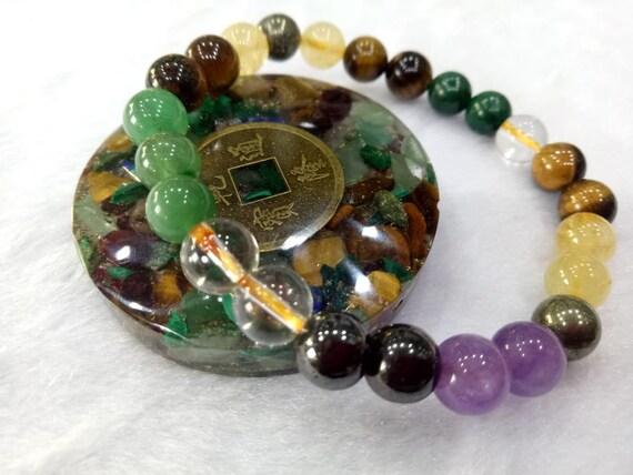 CDJ677A Harmonize Magnetite Stone Therapy Wand Pendant Reiki Healing Crystal