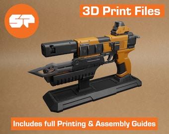 Borderlands Dahl Pistol 3D Model - STL file for 3D Printing - 3D printable Borderlands 3 Prop - Borderlands Replica Weapon for Cosplay
