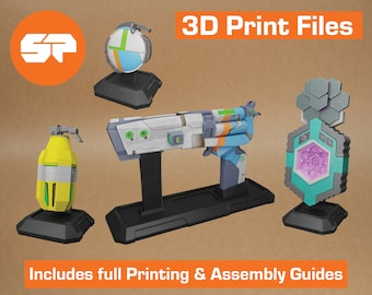 Borderlands 2 3D Model Collection - STL files for 3D Printing - 3D printable Borderlands 2 Props - Borderlands Replica Weapons for Cosplay
