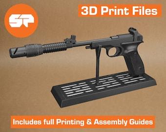 Princess Leia Defender Sporting Blaster 3D Model - STL file for 3D Printing - Replica Prop for Cosplay - 3d Printable Star Wars Pistol