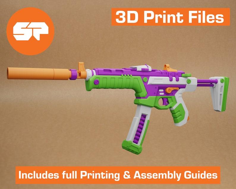Valorant BlastX Spectre 3D Model  STL file for 3d Printing  image 1