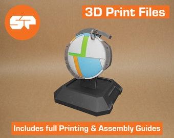 Borderlands Maliwan Grenade 3D Model - STL file for 3D Printing - 3D printable Borderlands 2 Prop - Borderlands Replica Weapon for Cosplay