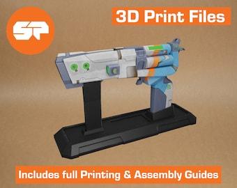 Borderlands Maliwan Pistol 3D Model - STL file for 3D Printing - 3D printable Borderlands 2 Prop - Borderlands Replica Weapon for Cosplay