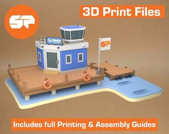 Animal Crossing Airport 3D Model - STL file for 3d Printing - 3d Printable Animal Crossing New Horizons Model
