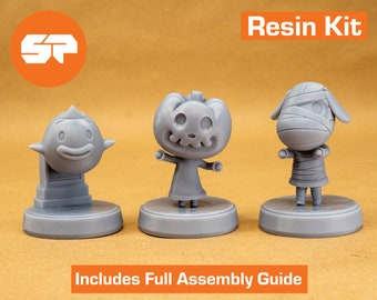 Animal Crossing Halloween Figure - 3d Printed Resin Kit - Based on Animal Crossing New Horizons Characters