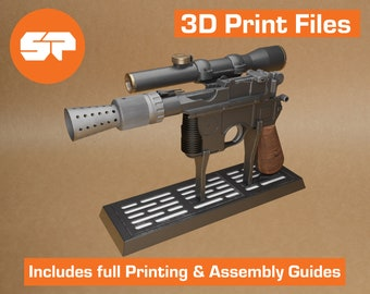 Han Solo DL44 3D Model - STL file for 3d Printing - Replica Prop for Cosplay  - 3d Printable Star Wars Blaster