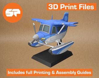 Animal Crossing DAL Plane 3D Model - STL file for 3d Printing - 3d Printable Animal Crossing New Horizons Plane